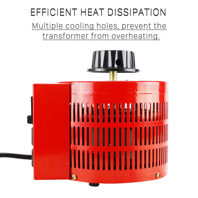 Anesty Auto Transformer AC Variable Voltage Converter Transformer Regulator 2KVA 0-130V (L) by Anesty (Image #5)