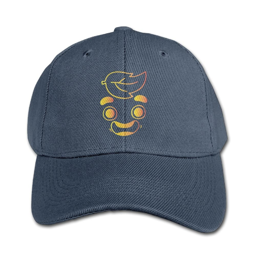 Mollie Storey Gold Gua-v-a Juice Face Baseball Snapback Hat Twill Cap For Kids Children Navy