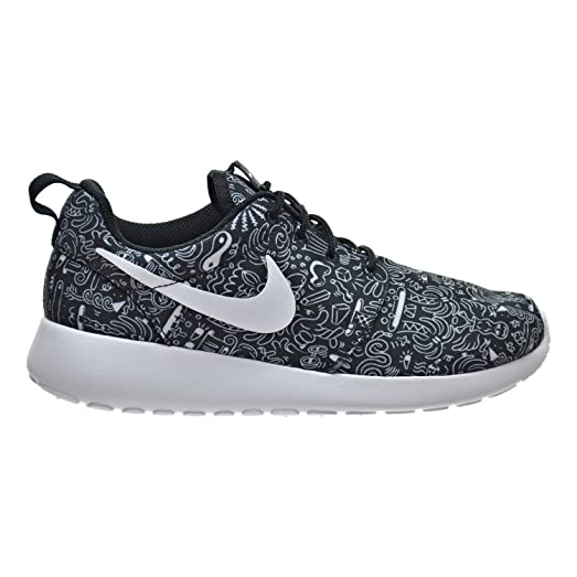 best service 48746 dd1f4 ... coupon code for nike roshe one print prem womens shoes black white  749986 010 6.5 b