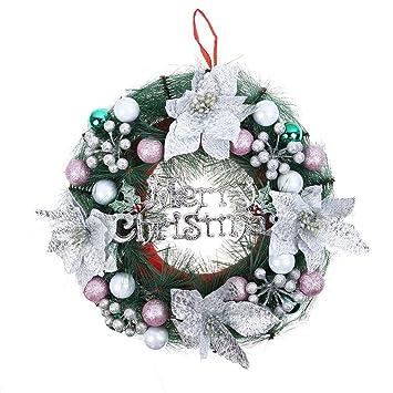 Adventskranz Aus Christbaumkugeln.Vneirw Weihnachtskranz 30cm Mit Weihnachtskugel