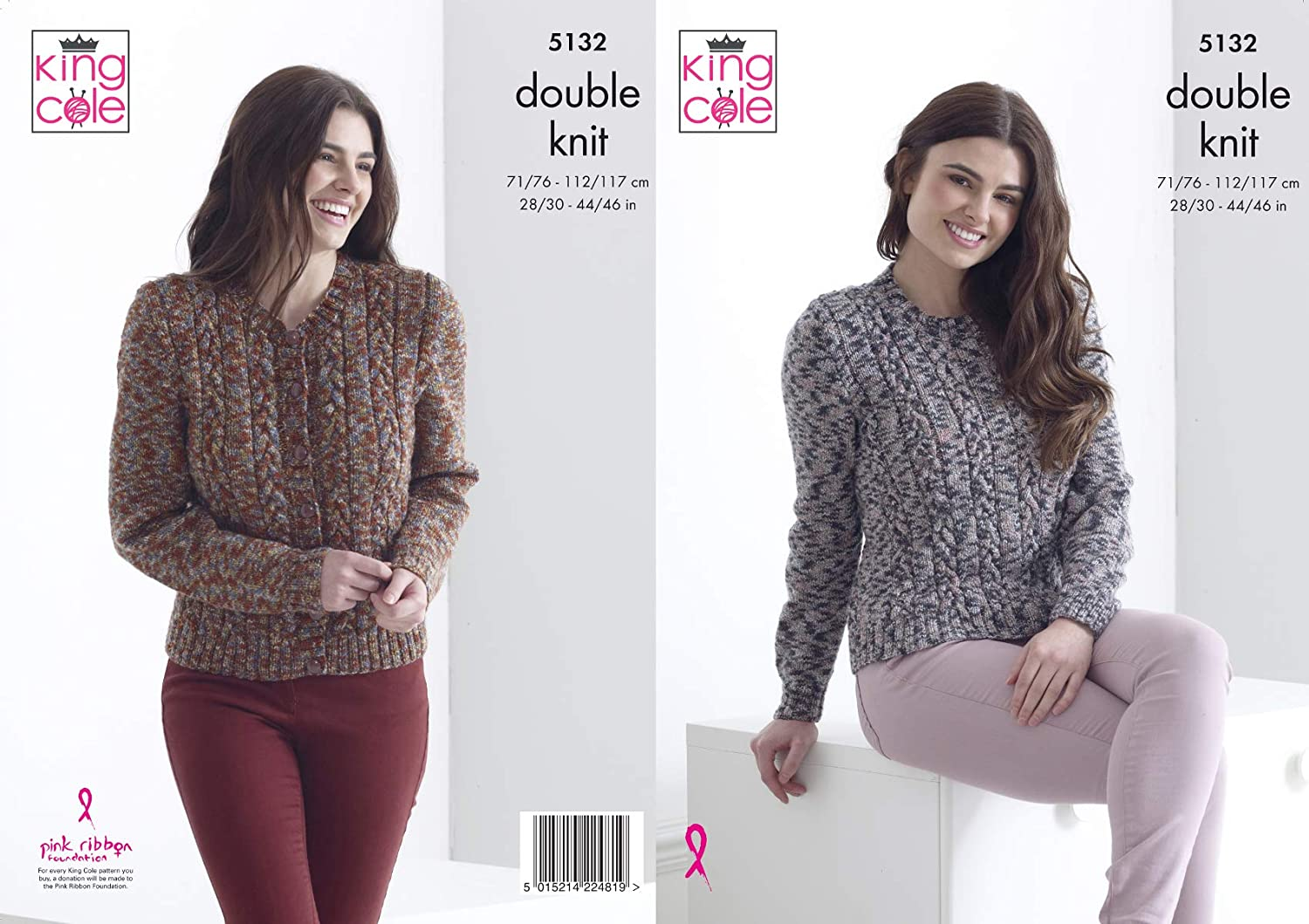 KNITTING PATTERN Ladies Lacy Cardigan /& Jumper Galaxy DK King Cole 5293