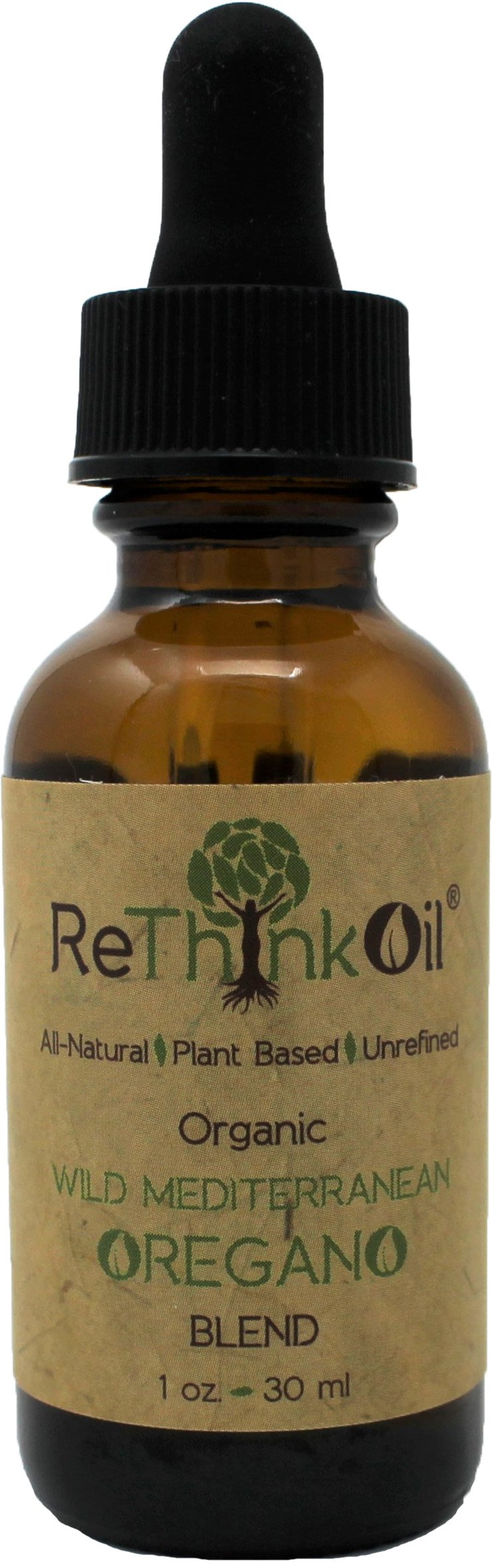 Rethink Oil - 1 oz - (1:4 Dilution) - 4 Parts Organic PDO Kolymvari Olive Oil to 1 Part Organic Oregano Oil - Food Grade Pre-Diluted Blend