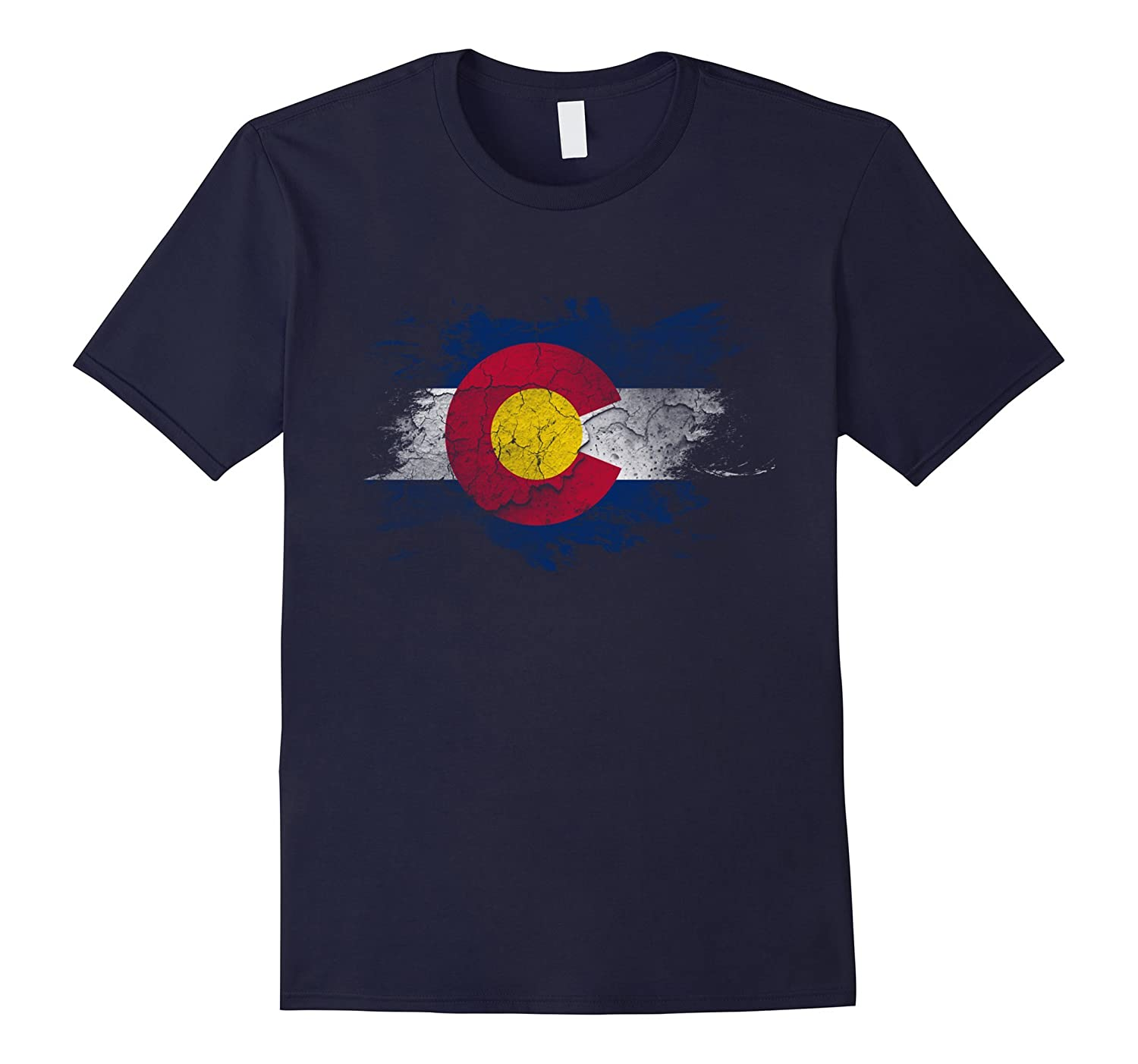 Vintage Patriotic Flag of Colorful Colorado Awesome T-Shirt-TD