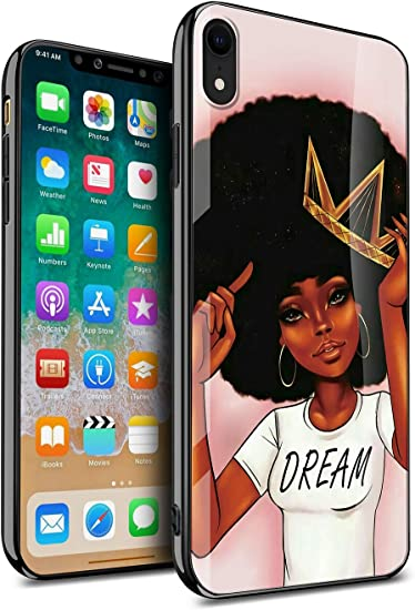 Iphone Xr Case For Women Girly Cover Protective African American Black Women Afro Girls Africa Melanin Crown Dream Design Slim Fit Thin Grip Soft Tpu And Hard Plastic Phone Cases Kitata
