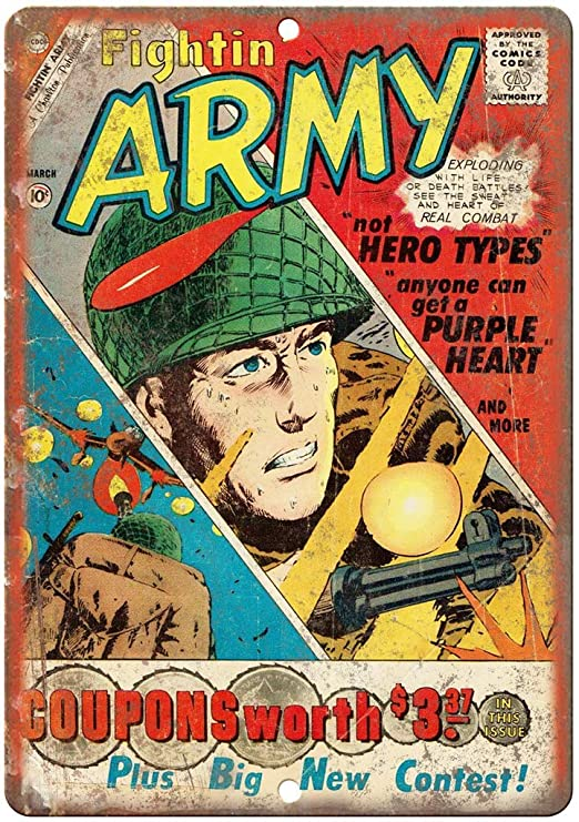 DGBELL Fightin Army March Comic Cartel de Pared de Chapa ...