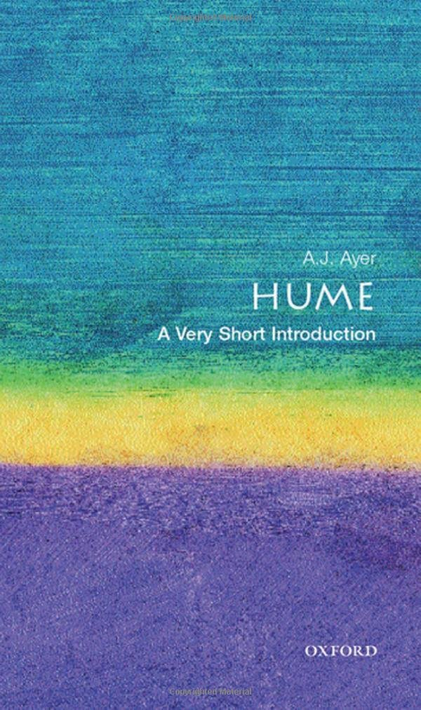 Hume A Very Short Introduction J Ayer 9780192854063 Amazon Books