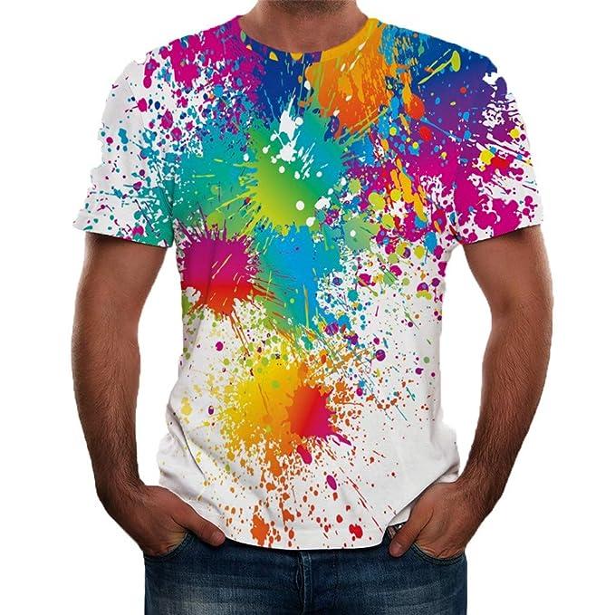 Camisas de Hombre Manga Corta Verano 3D Impresión de la