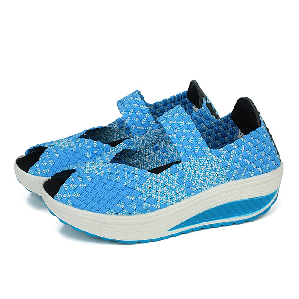 YMY Women's Woven Sneakers Casual Lightweight Sneakers - Breathable Running Shoes B07DXLQVD8 EU39/8.5 B(M) US Women|Blue5
