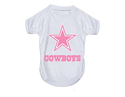 65ca330c6 Amazon.com   Dallas Cowboys Pet Dog Pink Performance T-shirt Active ...
