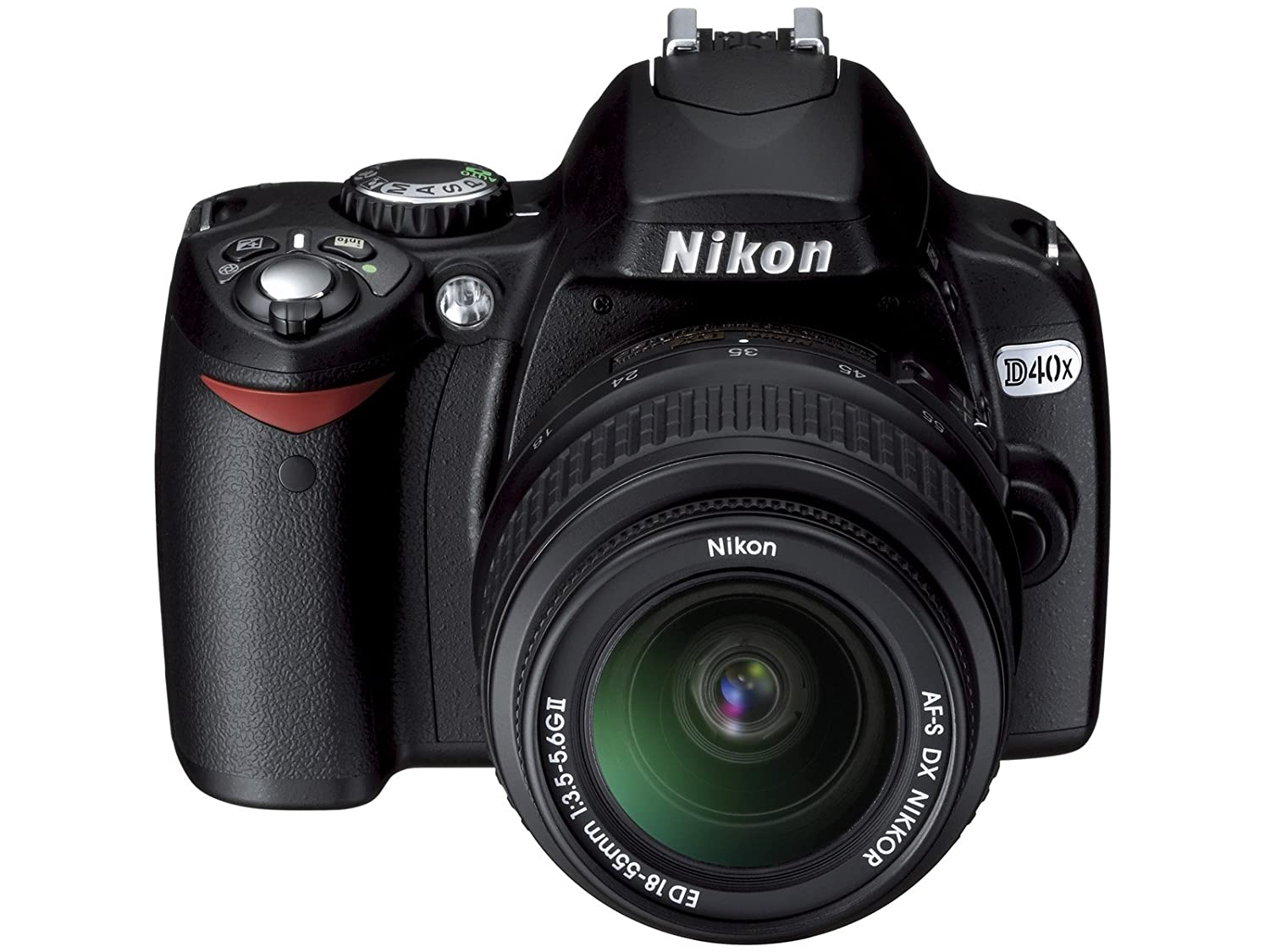 Amazon.com : Nikon D40x 10.2MP Digital SLR Camera with 18-55mm f/3.5-5.6G  ED II AF-S DX Zoom-Nikkor Lens (OLD MODEL) : Camera & Photo