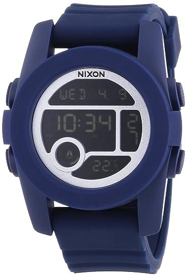 Nixon A490307-00 - Reloj digital unisex de silicona azul: Amazon.es: Relojes