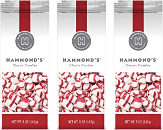 product image for Hammond's Candies - Peppermint Puffs - 3 - 5 Ounce Bags, Great for Holiday Events, Stocking Stuffers, Present Toppers and Holiday Office Party Gifts. Handcrafted in the USA
