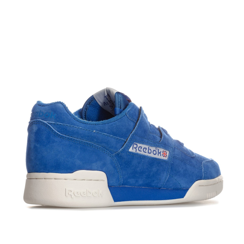 4ac31455ca0e7 Reebok Mens Classics Mens Workout Plus Vintage Trainers in Blue - UK 5   Amazon.co.uk  Shoes   Bags