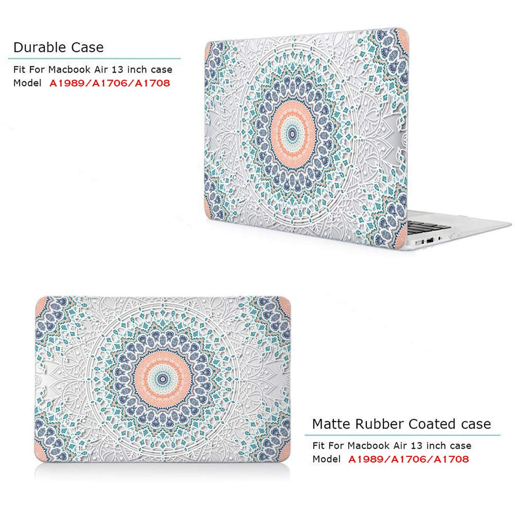 Fairy Starry Sky iCasso MacBook Pro 13 inch Case 2019 2018 2017 2016 Release A2159//A1989//A1706//A1708 Hard Cover Shell with Keyboard Cover Compatible Newest MacBook Pro 13 with without Touch Bar and Touch ID