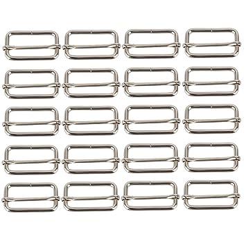 bqlzr Bar tri-glides coulissante en métal boucles broches réglage  coulissant pour sangle 38 mm 45339d2323c