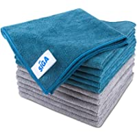 "MR.SIGA Microfiber Cleaning Cloth, Pack of 12, Size: 15.7"" x 15.7"""