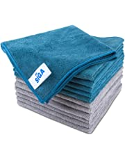 "MR. SIGA Microfiber Cleaning Cloth, Pack of 12, Size: 15.7"" x 15.7"""