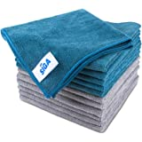 """MR.SIGA Microfiber Cleaning Cloth, Pack of 12, Size: 15.7"""" x 15.7"""""""