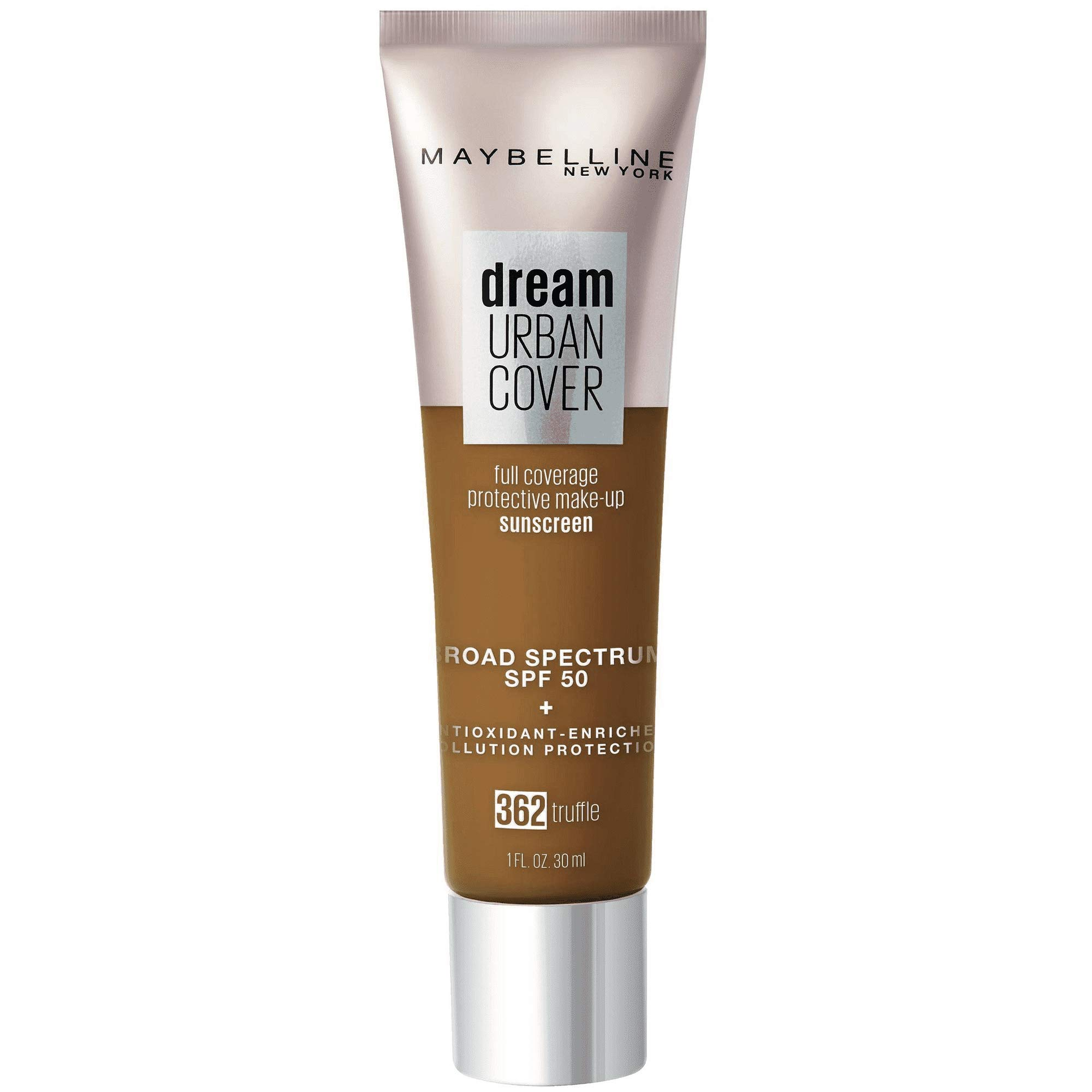 Dream Urban Cover Full Coverage Protective Sunscreen Makeup, 362 Truffle, 1 fl oz (Pack of 2)