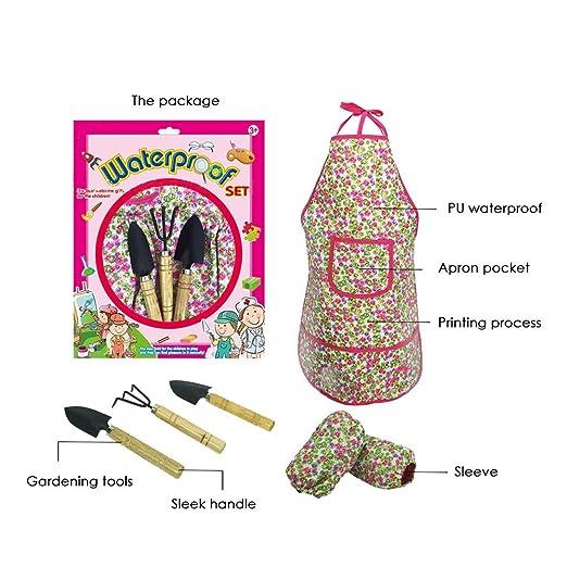 ... jardín trabajo - Set para la guardería trabajo Herramientas con guantes y bolsa para herramientas jardín Regalos Jardín accesorios: Amazon.es: Bebé