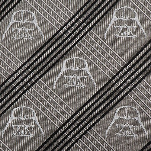 Mens 100/% Silk Star Wars Darth Vader Gray Plaid /& Stripe Tie Necktie