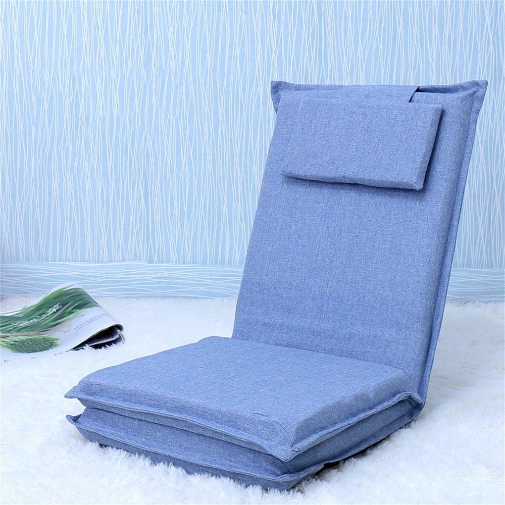 ベンチ 床の椅子のベッドコンピュータの椅子の背もたれの怠惰な単一の小さなソファ折り畳み式の寮の窓のスポンジ床のソファー (A++) (色 : ライトブルー) B07DFGNX41 ライトブルー ライトブルー
