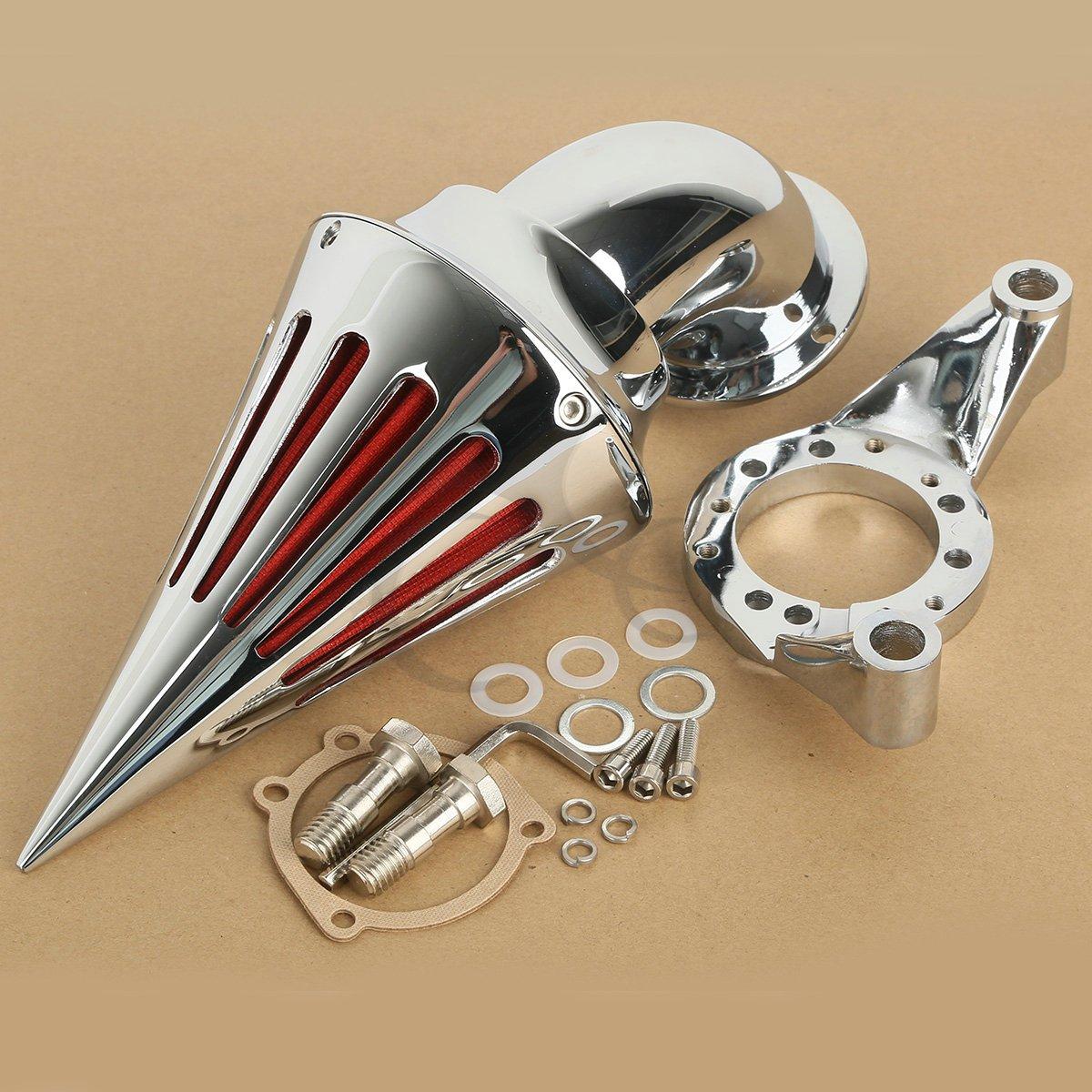 XMT-MOTO Aluminum Spike Air Cleaner Intake Filter For Harley CV Carburetor Delphi V-Twin