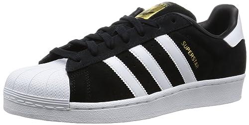 ... closeout adidas superstar suede scarpe da basket uomo nero ftwr white  core black e9a60 117f8 d916fec348