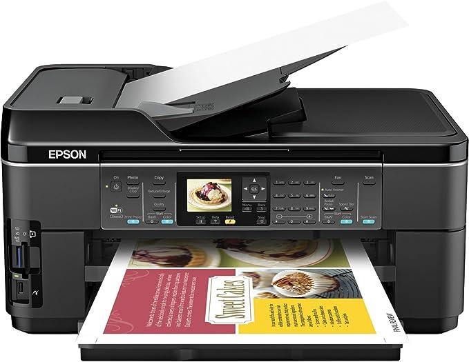 Epson WorkForce WF-7510 Wireless All-in-One Wide-Format Color Inkjet Printer, Copier, Scanner, Fax (C11CA96201)