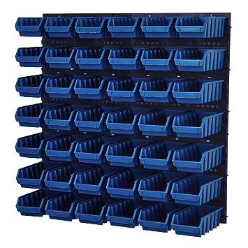 Stapelboxen Wandregal Box Sichtlagerkästen Schüttenregal Lagersystem 80 Boxen