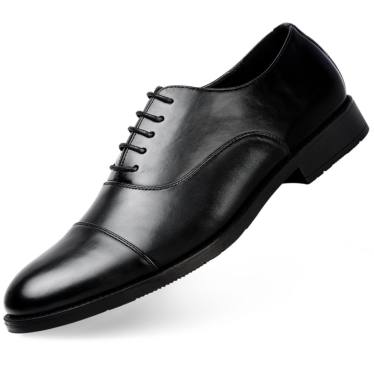 Men's Dress Shoes FormalLeather Oxfords Lace up Black 10.5 by GOLAIMAN (Image #1)