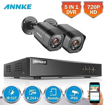 ANNKE 1080P Lite Kit de 2 Cámaras de Vigilancia Seguridad (Onvif P2P H.264