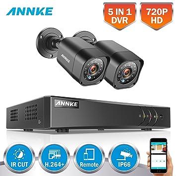 ANNKE 1080P Lite Kit de 2 Cámaras de Vigilancia Seguridad (Onvif P2P H.264+ CCTV ...
