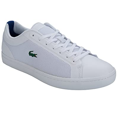6bb6c9abb Lacoste Mens Mens Straightset Trainers in White - UK 6.5  Amazon.co.uk   Shoes   Bags