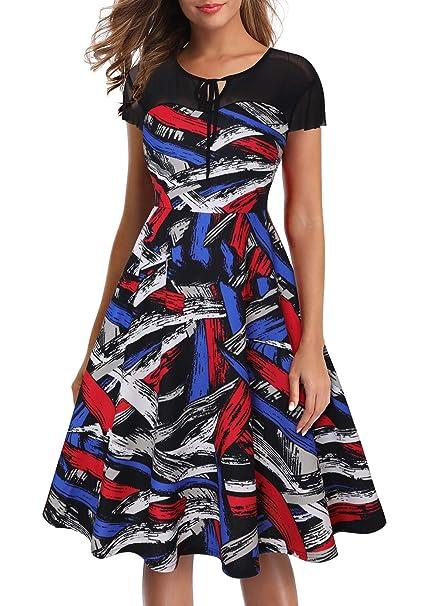 Amazon.com: OTEN vestido de fiesta de cóctel con bolsillos ...