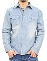 (リアルコンテンツ)REAL CONTENTS デニムシャツ メンズ ウエスタンシャツ デニム シャツ 大きいサイズ ボタンシャツ カットソー rcls51-h341