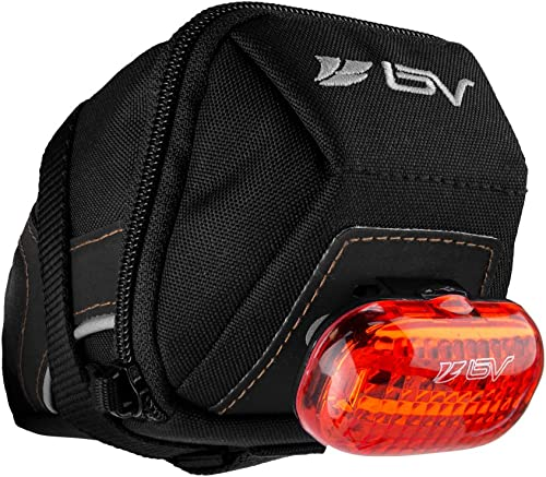 BV Bicycle Y-Series Strap-On Bike Saddle Bag/Bicycle Seat Pack Bag, Cycling Wedge