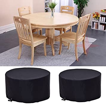 Costway 4 6 Seat Circular Table Cover Large Round Waterproof Patio
