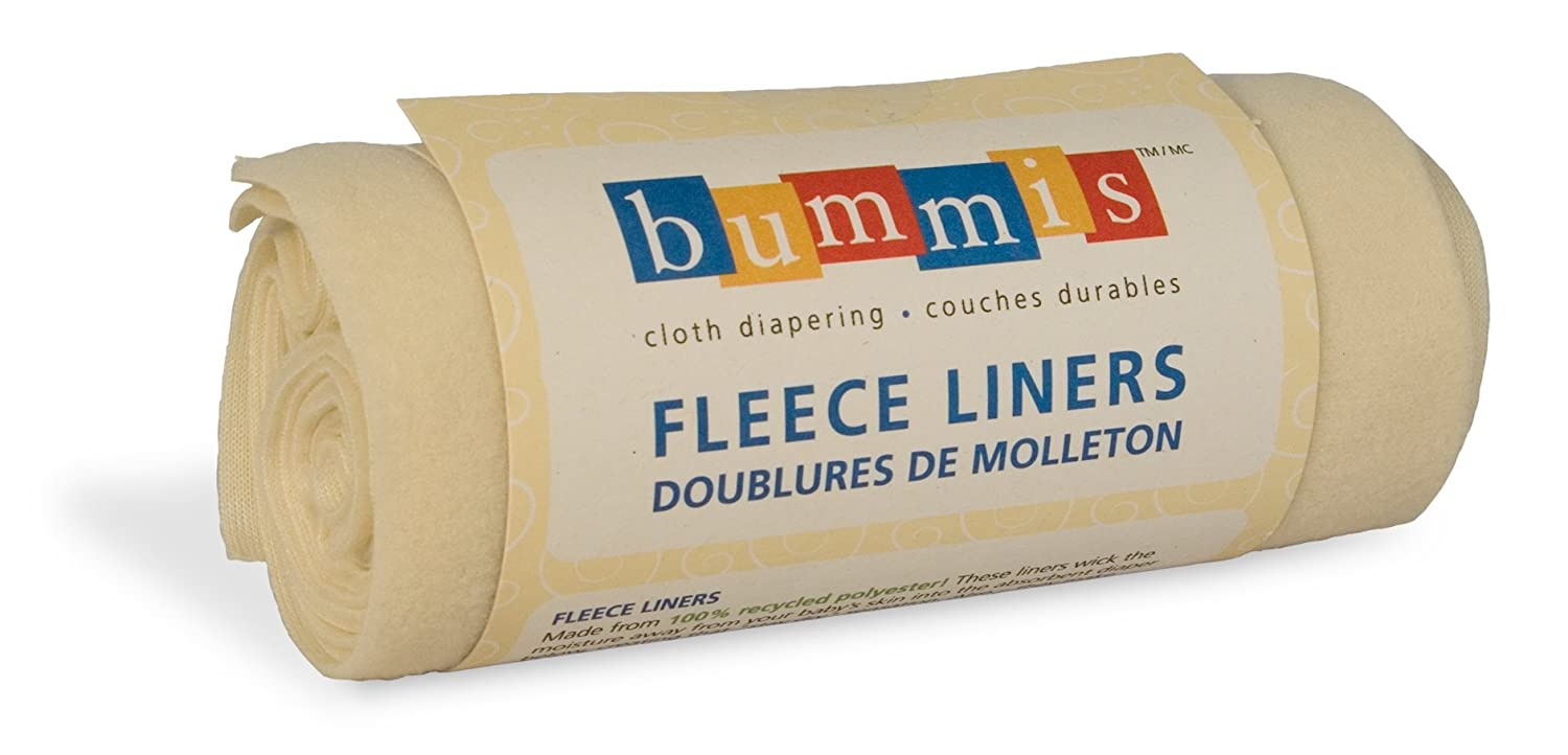 Image: Bummis Reusable Fleece Liners | microfleece liners wick moisture away from your baby's skin | super soft and breathable