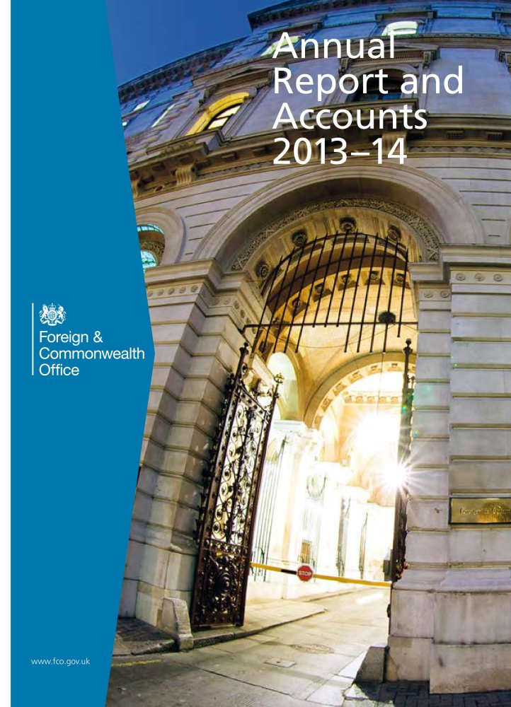 Read Online Foreign and Commonwealth Office annual report and accounts 2013-14: (for the year ended 31 March 2014) (House of Commons Papers) ebook