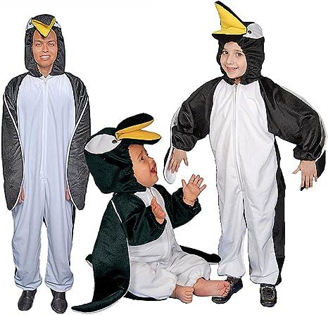 Dress Up America Disfraz de pingüino de Peluche: Niños 3-4 años ...
