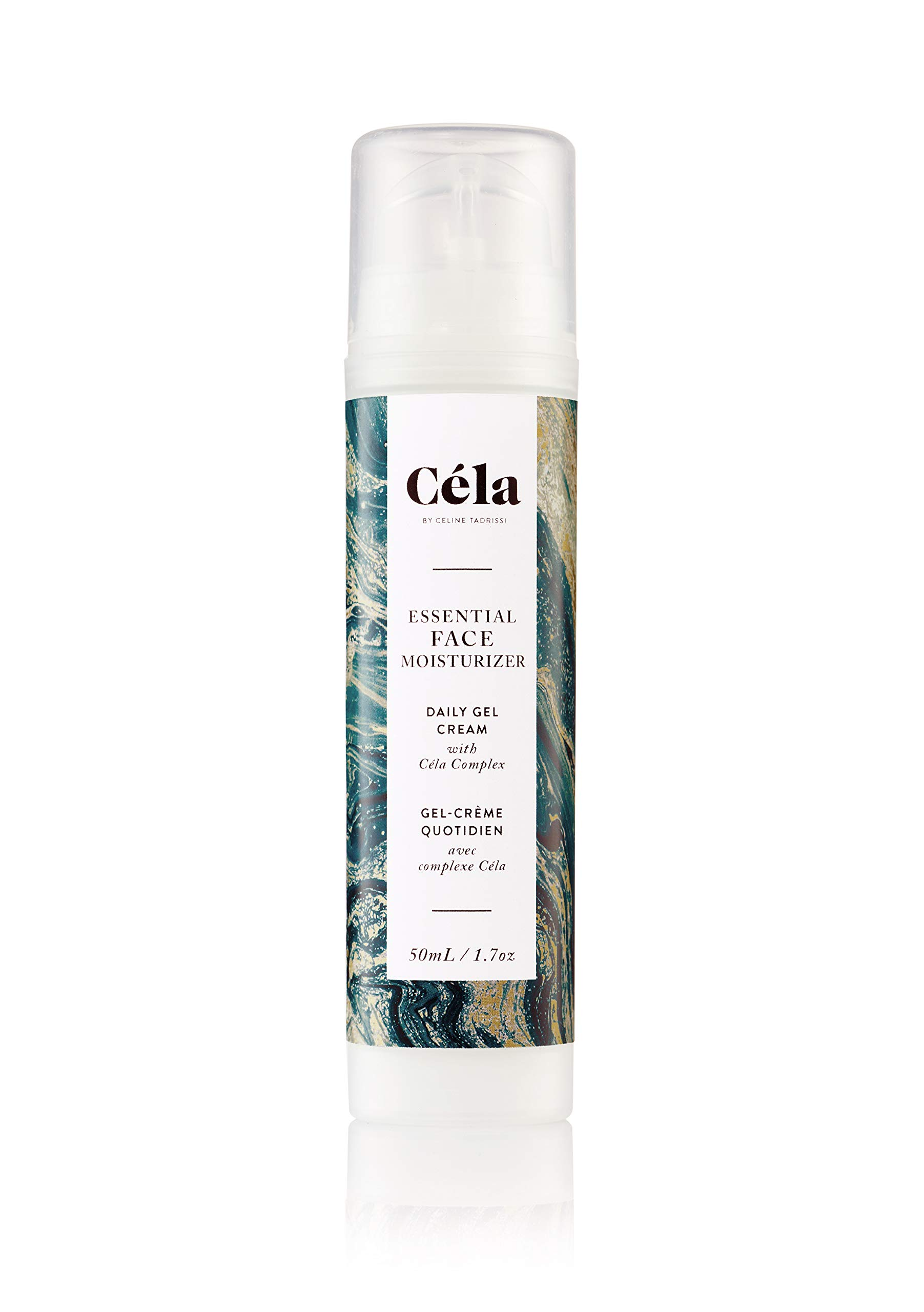 Céla Essential Face Moisturizer Daily Gel Cream, Day/Night Skin Care (50mL) by Céla