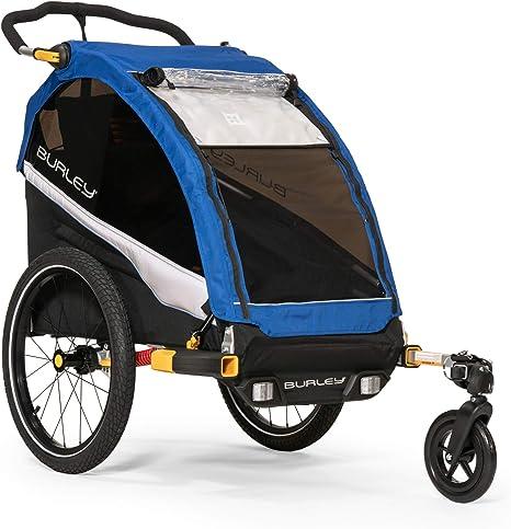 Burley DLite Single Remolque de Bicicleta para niños, Unisex Adulto, Old School Azul,: Amazon.es: Deportes y aire libre