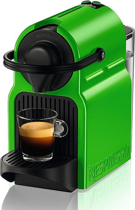 Krups Nespresso Inissia - Cafetera, sistema Thermoblock de rápido calentamiento, incluye 16 cápsulas de café, color verde: Amazon.es: Hogar