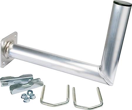 SCHWAIGER -5163- Soporte de balcón de Aluminio | Soporte para Antena satelital | Sistema satelital | Antena Sat | con ángulo | también utilizable como ...