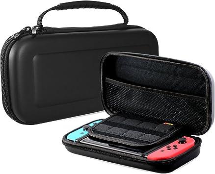 Procase Estuche Protector para Nintendo Switch, Caja Sólida de Viaje para Nintendo Switch con 8 Cartuchos de Tarjeta de Juego -Negro: Amazon.es: Electrónica