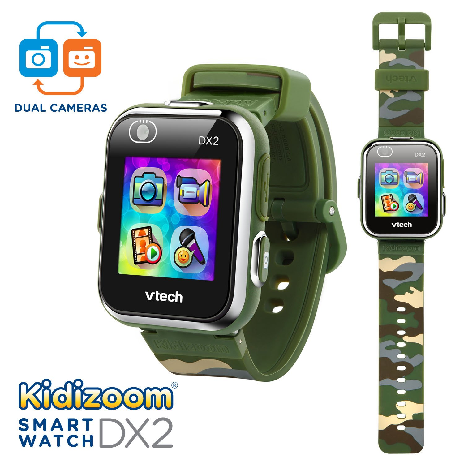 VTech Kidizoom Smartwatch DX2, Camouflage (Amazon Exclusive) by VTech