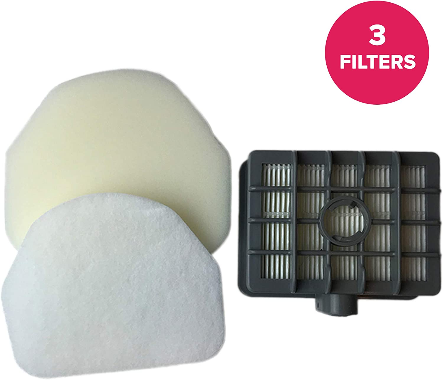 Think Crucial Replacement for Shark NV450 HEPA Style, Foam & Felt Filter Fits Rotator NV450, Compatible With Part # XFF450 & XHF450