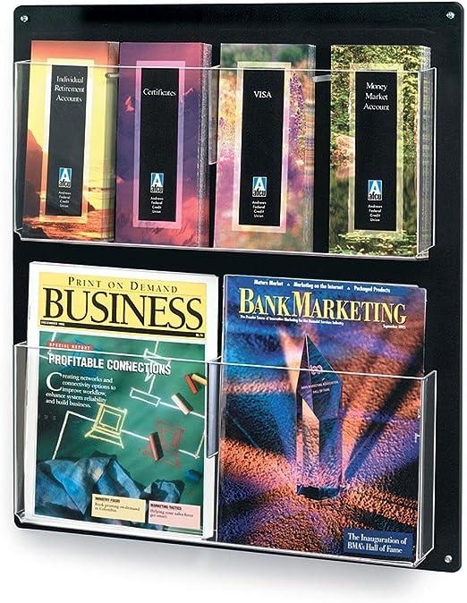 Color : Black YAN JUNau Magazine Shelves Desktop Creative Sector File Magazine Books Storage Rack A4 Paper Finishing Frame Files Rack Black Light Blue Pink