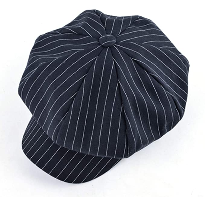 Retro caps Men Newsboy Cap Unisex Solid Color Cotton Gorras Planas Berets Women Hex hat Casquette